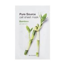 Missha Pure Source Cell Sheet Mask Bamboo - 10 Sheets - $10.21