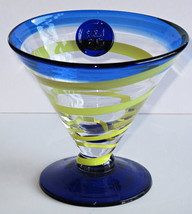 Kosta Boda (1) Royal Caribbean Martini, Margarita Cocktail Glass, Handbl... - $29.99