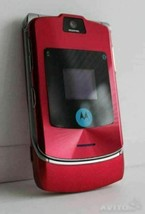 ORIGINAL Motorola RAZR V3i Luxury Red 100% UNLOCKED Mobile Cell Phone WA... - $44.40