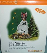 Department 56 Over The Hill Tombstone Halloween Village Accessory 53072 NEW - $13.90