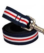 Nautical Stripe Grosgrain Dog Leash (120cm, 4ft.) from MontanaDog / Made... - $36.00