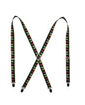 Holiday Christmas Lights Black / Multi Color Logo Suspenders  - $13.99