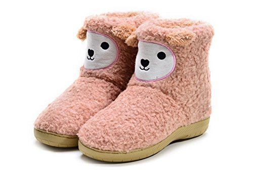 PANDA SUPERSTORE Adorable Coral Bootie Slippers for Womens Sheep Slippers, US 5.