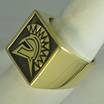 Trojan Soldier Warrior SPARTAN 300 gladiator Head Gold pltd ring Jewelry... - $59.99