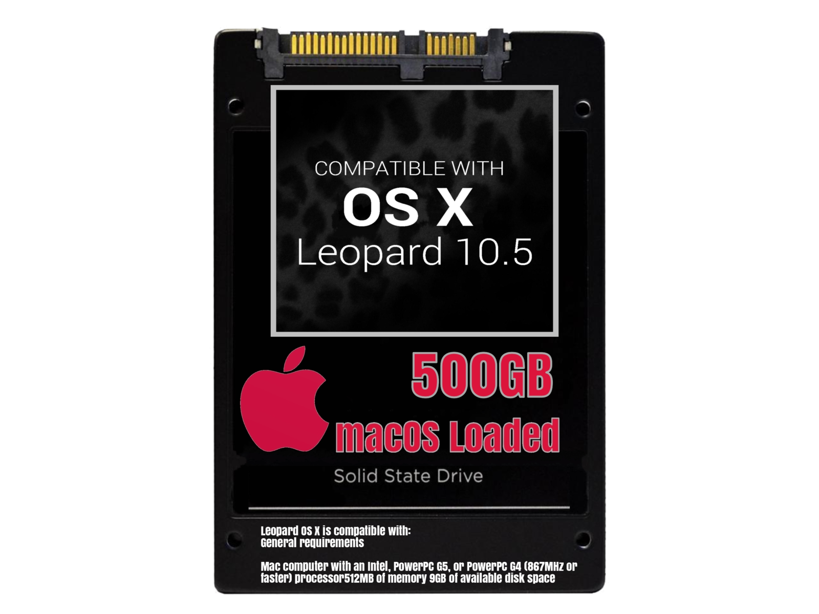 macOS Mac OS X 10.5 Leopard Preloaded on 500GB Solid State Drive - $99.99