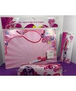 My Little Pony School Supplies Lot Pencil Case Dry Erase Board Charm Pen... - $14.84