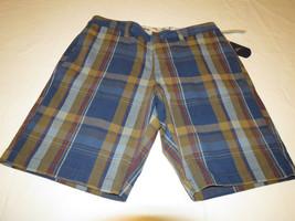 Tommy Bahama Hombre Shorts 30 Hana Cuadros 4009 Azul Hawaiian T811660 15... - $50.77