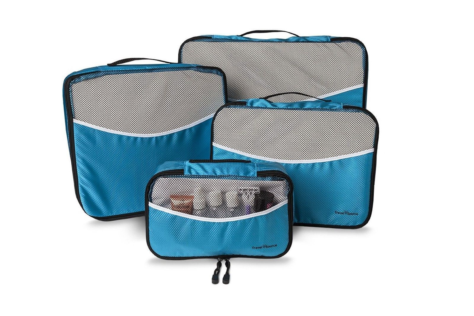 Travel Source Luggage Packing Cubes with Drawstring Laundry Bag (5 Piece Set).
