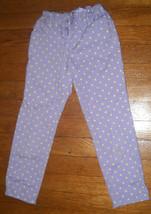 Gap Kids purple green polka dot twill super skinny jeans pants girls size 7 R - $8.03