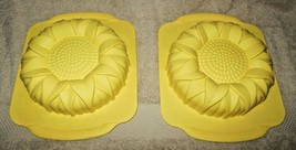 "PAIR OF 8"" SILICONE SUNFLOWERS  BAKING CAKE CRAFT MOLDS  - $15.99"