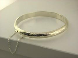 """Argent Massif 925 Détaillée 7.5 """" Bracelet #4 - $11.77"""