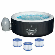 "Coleman SaluSpa 71"" x 26"" Inflatable Spa 4-Person Hot Tub w/ 3 Filter Cartridges - $1,999.99"