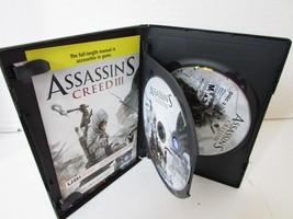 PC GAME WINDOWS ASSASSIN'S CREED III CASE & 2 DISCS UBISOFT 2012 - $6.95