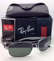 RAY-BAN Tech Series Sunglasses RB 8316 004 62-18 Gunmetal Aviator Frame w/Green