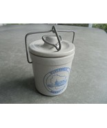 Small Beige Crock with Bale and Lid Wisconsin Homestead - $11.88
