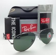 Polarized RAY-BAN Sunglasses LARGE METAL RB 3025 004/58 58-14 Gunmetal w/ Green