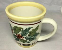 Longaberger Pottery American Holly Coffee Tea Cup Mug USA - $14.65