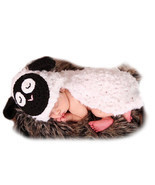 born Photography Props Baby White Sheep Crochet Knitted Cute Lamb Infant... - $14.73 CAD