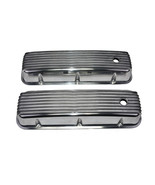 BBC BIG BLOCK CHEVY TALL FINNED POLISHED ALUMINUM VALVE COVERS 396 427 454 - $69.29