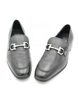 NIB Salvatore Ferragamo Mens Flori 2 Gancini Bit Black Leather Loafers 1... - $345.00
