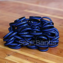 Set of XL 9 Inch Thin Blue Line Wristbands Wristbands - Police Bracelet Lot - $5.82+