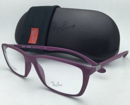 New RAY-BAN Eyeglasses LITEFORCE RB 7018 5253 56-16 Matte Purple Cyclamin Frames
