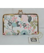 Mary Square 20278 Peach Floral Pill Pouch Clutch Closure Plastic Container - $21.00