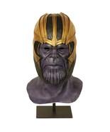 Halloween Decor Avengers Endgame Thanos Helmet Mask Full Face Latex Hoods - $28.99