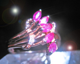 HAUNTED RING OFFER ONLY 100X LADY GODIVA BEAUTY & BRAVERY MAGICK 925 7 S... - $200.00