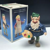 Kurt Adler Santa's World Workshop Elf Figurine Christmas Gnome Paint Pallet Art - $57.42