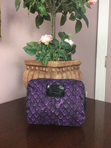 New Coach Taylor Purple Nylon Snake Print Folding Tote Bag F66596 B27 - $79.19