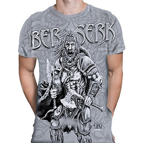 Primary image for Viking Berserk - Mens Grey T-Shirt (Large)