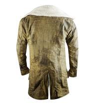Bane Dark Knight Rises Tom Hardy Distressed Brown Fur Leather Coat image 3