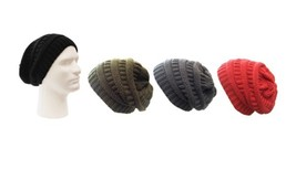 Case of [120] Adult Slouch Knit Beanies - Assorted Solid Colors - $632.66