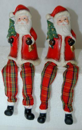 Santa Shelf Sitter 007337 Christmas Theme 4 Inches Tree Bell