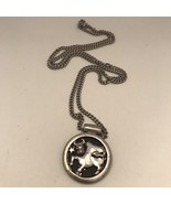 "Vintage Sarah Coventry Silver-Tone TAURUS Zodiac Sign Pendant 24"" Neckla... - $8.54"