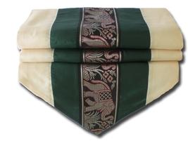 TIL132 green Elephant table runner tablecloth tablerunner silk 150x30cm ... - $17.99
