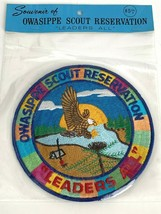 """New Vintage Boy Scouts Owasippe Scout Reservation Leaders All 6"""" Patch - $49.95"""