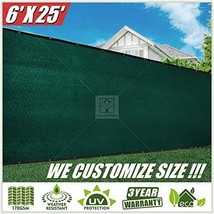 ColourTree 6' x 25' Green Fence Privacy Screen Windscreen Commercial Gra... - $48.03