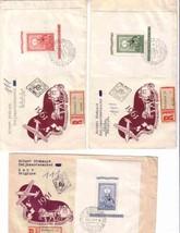 HUNGARY 1951 C95 CB13 CB14 FDC REG'D STAMP ON STAMP LOT #  11260-A1 - $163.35