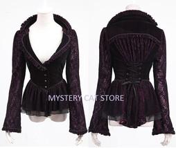 New PUNK RAVE Gothic Vampiress Purple Violet Jacket Y-497 FAST POSTAGE - $78.48