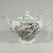 Aynsley Pembroke Teapot Tea Pot Fine English Bone China Birds Flowers - $63.18