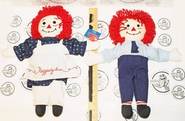 "2 LOT - RAGGEDY ANN & ANDY STUFFED DOLLS APPLAUSE & DAKIN 17.5"" TOY PLUS... - $24.94"