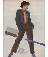 1983 Leslie Fay Magenta Sexy Cute Fedora Fashion Vintage Print Ad 1980s - $6.33