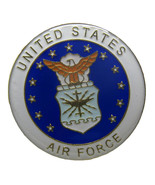 "Pack of 3 United States Air Force Emblem 1-1/8"" Flag Circular Hat Cap la... - £5.11 GBP"
