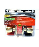 MASTER LOCK HALL & CLOSET/TULIP PASS/polished brass Sealed! - $1.77
