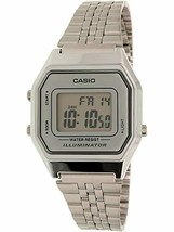 Casio Ladies Mid-Size Silver Tone Digital Retro Watch LA-680WA-7DF - $47.49 CAD