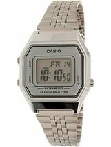 Casio Ladies Mid-Size Silver Tone Digital Retro Watch LA-680WA-7DF - $35.73