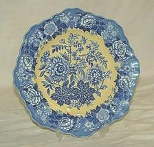 Spode Blue Room Garden Jasmine Buffet Dessert Plate Yellow Background En... - $59.39