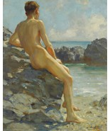 The Bather Painting by Henry Scott Tuke Art Reproduction - $32.99+